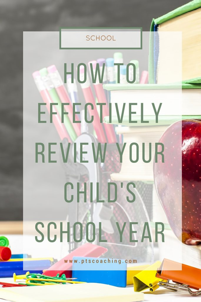 Review child's school year